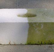 Steinimprägnierung X: Eindrucksvoller Anti-Moos Effekt.
